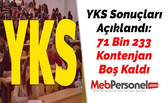 YKS Sonuçları Açıklandı: 71 Bin 233 Kontenjan Boş Kaldı