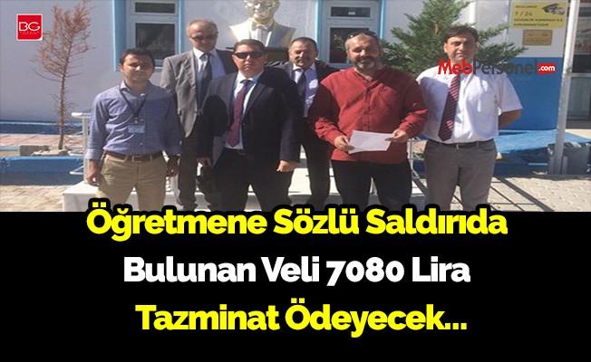 Bodrum'da Öğretmene Sözlü Saldırıda Bulunan Veli 7080 Lira Tazminat Ödeyecek…