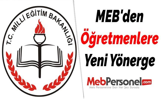Milli Eğitim Bakanlığından Öğretmenlere Yeni Yönerge