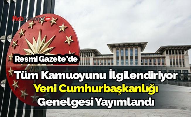 Yeni Cumhurbaşkanlığı genelgesi Resmi Gazete'de yayımlandı