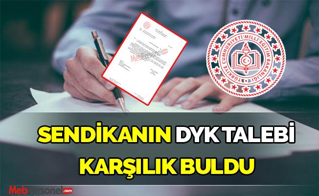 Anadolu Eğitim Sendikasının Dyk Talebi Karşılık buldu