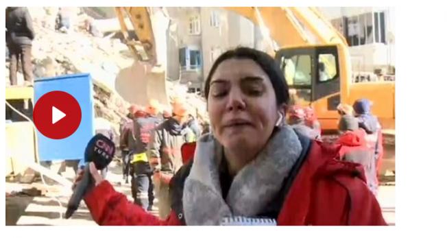 Elazığ'da deprem bölgesinden canlı yayın yapan muhabir, gözyaşlarına hakim olamadı