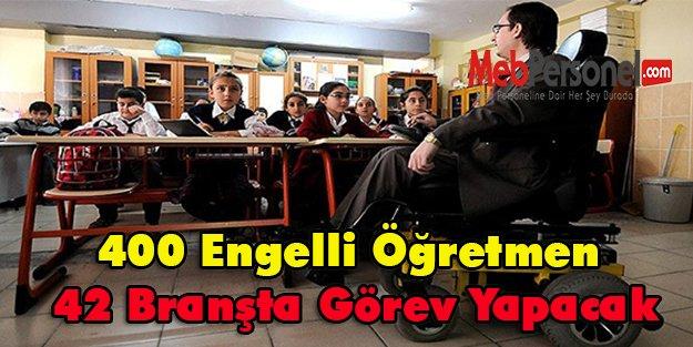 400 Engelli Öğretmen 42 Branşta Görev Yapacak