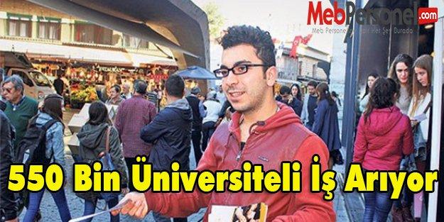 550 Bin Üniversiteli İş Arıyor