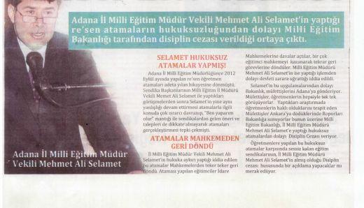 Adana MEM'e Re'sen Cezası