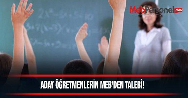 Aday Öğretmenlerin MEB'den İstedikleri!