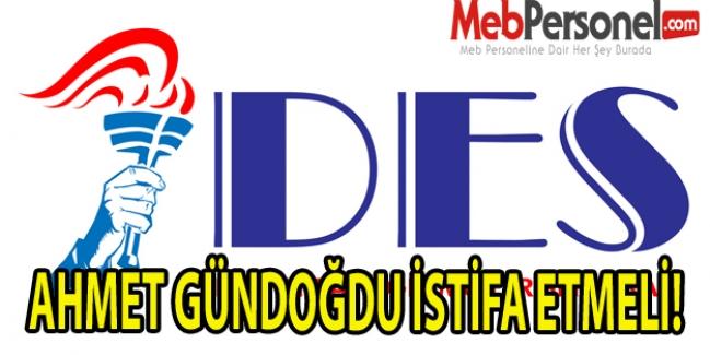 AHMET GÜNDOĞDU İSTİFA ETMELİ!