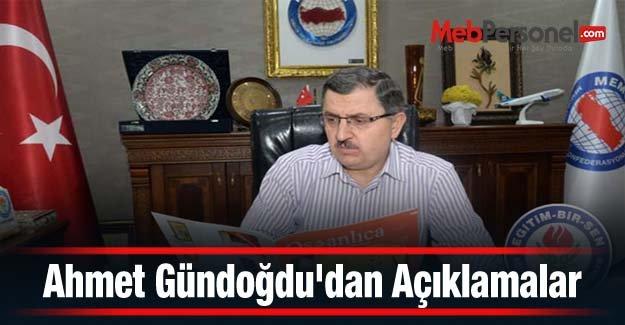 Ahmet Gündoğdudan Açıklamalar