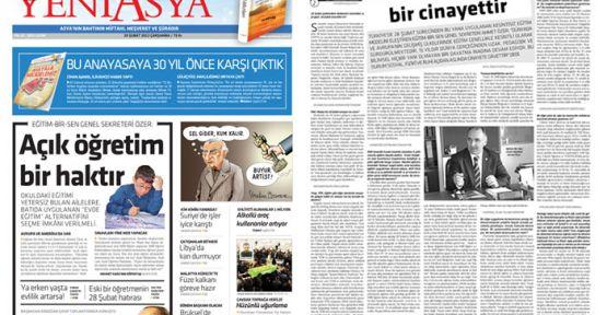 Ahmet Özer,Kesintisiz eğitim bir cinayettir