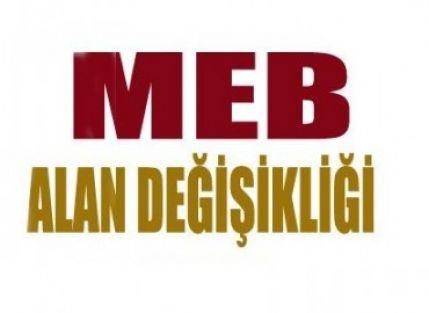 ALAN DEĞİŞİKLİĞİ DUYURUSU İLE İLGİLİ MEB'E BAŞVURU