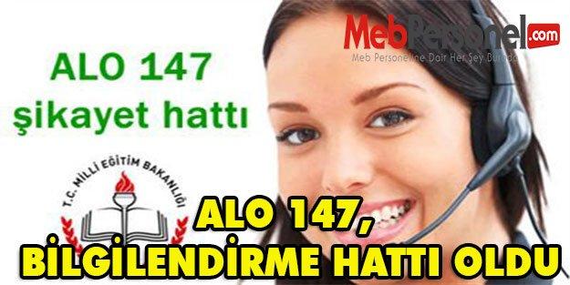 ALO 147, BİLGİLENDİRME HATTI OLDU