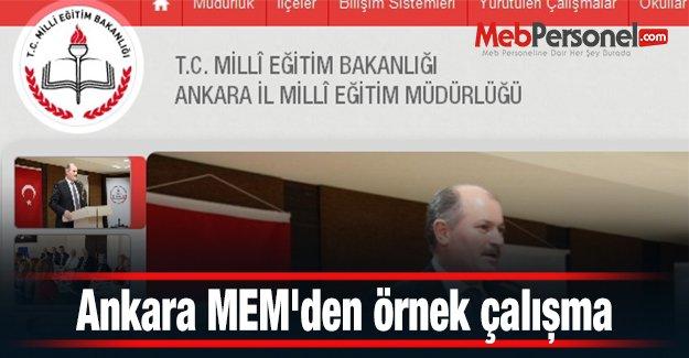 Ankara MEM'den örnek çalışma