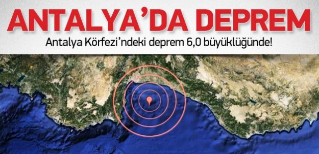 Antalyada Deprem oldu 28 aralık 2013