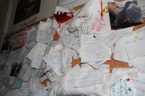 Askerlerin 'şafak'larını yazdığı duvar, şiir köşesine dönüştü