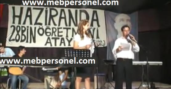Atama Bekleyen Öğretmenler , Haziran Ataması İçin Adanada Konser Düzenledi