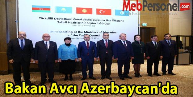 Bakan Avcı Azerbaycan'da