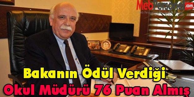 Bakanın Ödül Verdiği Müdür 76 Puan Almış