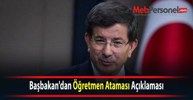 Başbakan'dan Öğretmen Ataması Açıklaması