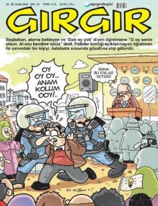 Başbakan'a 'oy yok' diyen öğretmen Gırgır'a kapak oldu