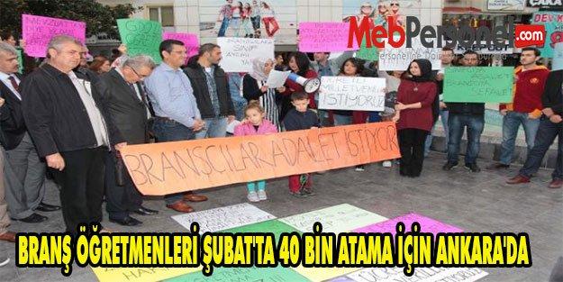 Branş Öğretmenleri, Şubat'ta 40 Bin Atama İçin Ankara'da