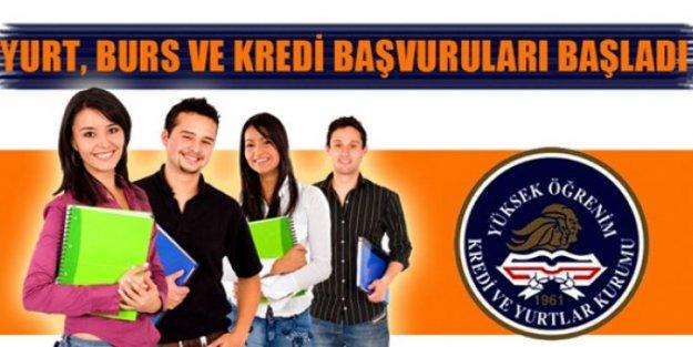 Burs ve öğrenim kredisi başvurularına ilişkin duyuru yayınlandı
