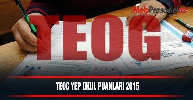 Bursa Liseleri Teog  Taban Puanları YEP TEOG (Anadolu ve Fen Lisesi) Yüzdelik Dilimleri 2014-2015