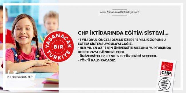 CHP'nin, Öğretmenlerle İlgili Seçim Vaatleri