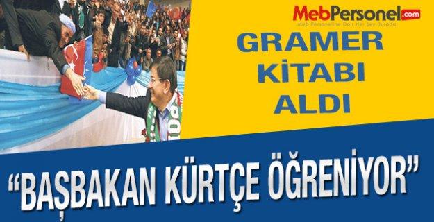 Davutoğlu: Kürtçe Gramer kitabı aldım, çalışıyorum