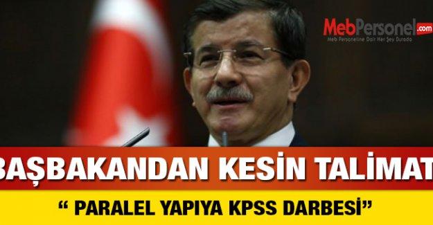 Davutoğlu'ndan Paralel Yapı'ya KPSS darbesi