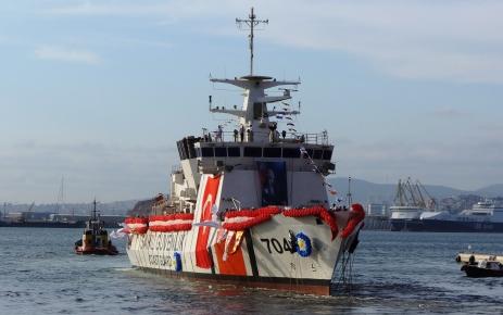 Dördüncü sahil güvenlik arama kurtarma gemisi de denize indirildi