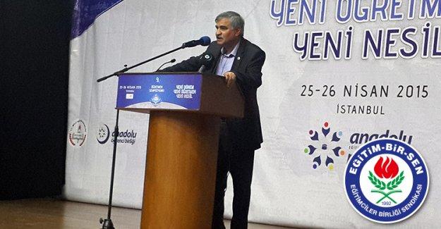 """EBS Başkan Vekili Latif SELVİ """"Haziran ayında bir miktar öğretmen alımı olacağı kanaatindeyiz"""""""