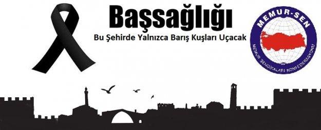 """Diyarbakır EBS Şubesinden """"Diyarbakır'daki Patlama İçin"""" Başsağlığı Mesajı"""