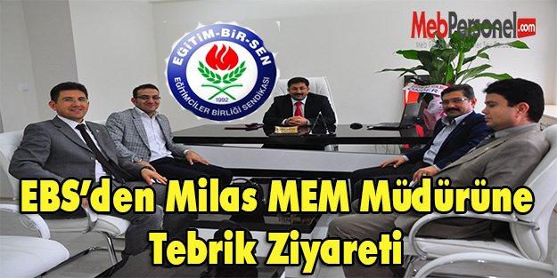 EBS Milas MEM Müdürünü Ziyaret Etti