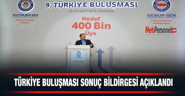 EBS Türkiye Buluşması Sonuç Bildirgesi Açıklandı