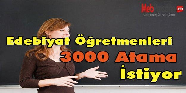 Edebiyat Öğretmenleri 3000 Atama İstiyor