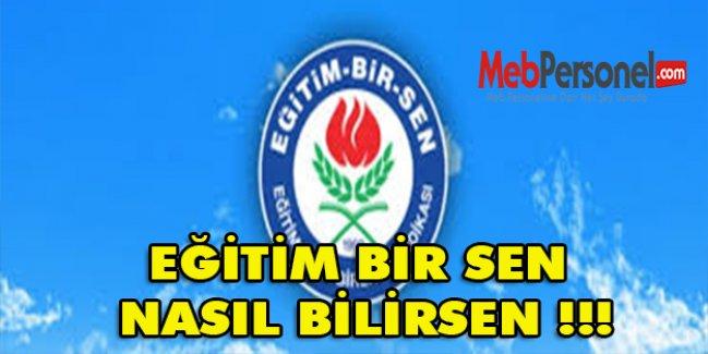 EĞİTİM BİR SEN NASIL BİLİRSEN !!!