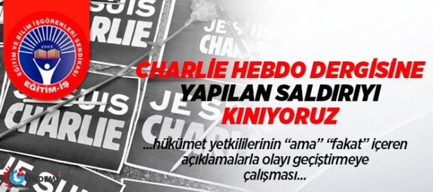 Eğitim-iş'den Charlie Hebdo'ya Yapılan Saldırıya Kınama