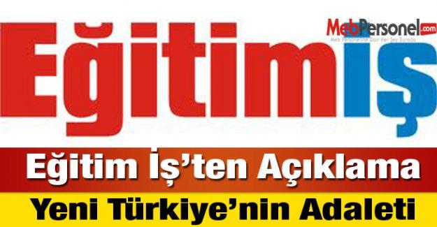 Eğitim İş:Yeni Türkiye'nin Adaleti
