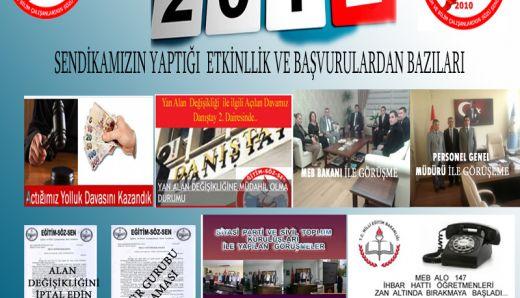 Eğitim Söz Sen'den 2012 Yılında Yaptığı etkinlikler dosyası