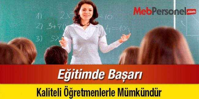 Eğitimde Başarı, Kaliteli Öğretmenlerle Mümkündür