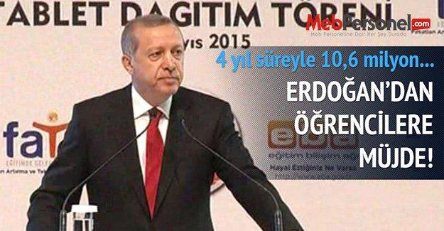 Erdoğan: 30 bin bilişim teknolojisi sınıfı kurup okullarımıza 1 milyon bilgisayar gönderdik