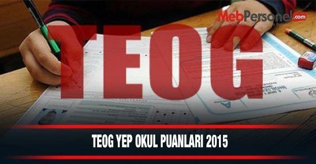 Erzincan İli Liseleri Taban Puanları YEP TEOG (Anadolu ve Fen Lisesi) Yüzdelik Dilimleri 2014-2015