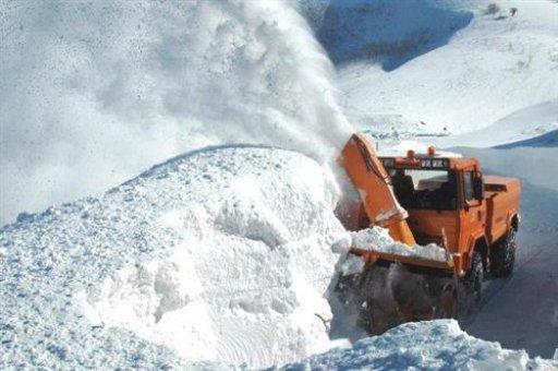 Erzincan'da 66 köy yolu ulaşıma kapalı
