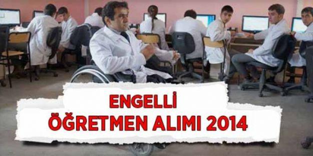Eylül'de, engelli öğretmen alımı olmayacak