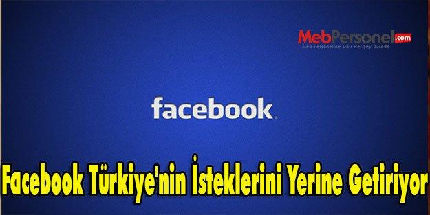 Facebook Türkiye'nin İsteklerini Yerine Getiriyor