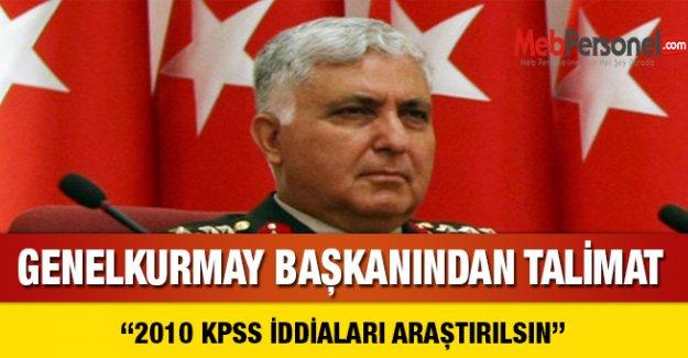 Genelkurmaydan KPSS iddialarını araştırın talimatı