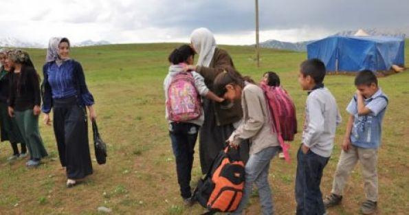 Göçer ailelerin çocukları için okul projesi
