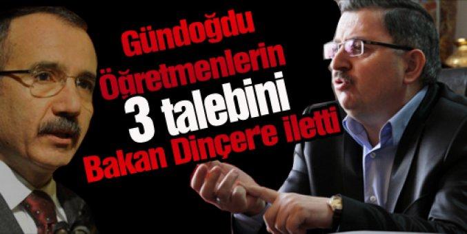 Gündoğdu: Öğretmenlerin 3 talebini Bakan Dinçer'e iletti