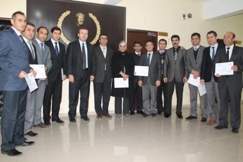 İdil Kaymakamlığı proje ekibi, sertifikalarını aldı