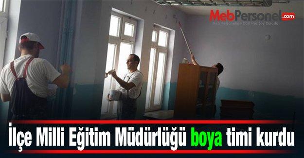 İlçe Milli Eğitim Müdürlüğü boya timi kurdu